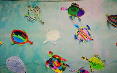 Travail effectué en arts plastiques par les CE1 de l'école Notre Dame